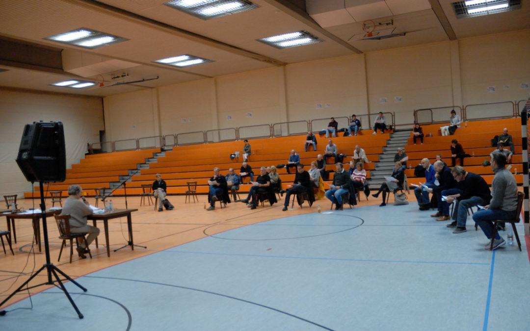 Delegiertenversammlung mit großen Abständen