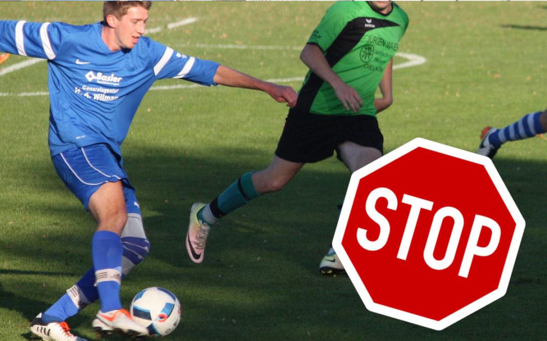 Fußball-Spielbetrieb auch eingestellt