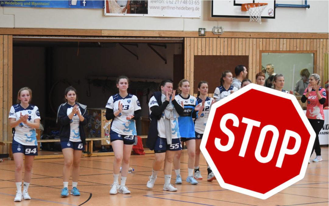 Handball-Spielbetrieb unterbrochen bis zum 31. Dezember!